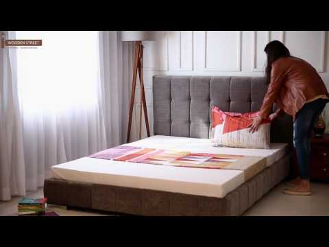 Upholstered Beds - Buy Wagner Upholstered Bed Online at Wooden Street