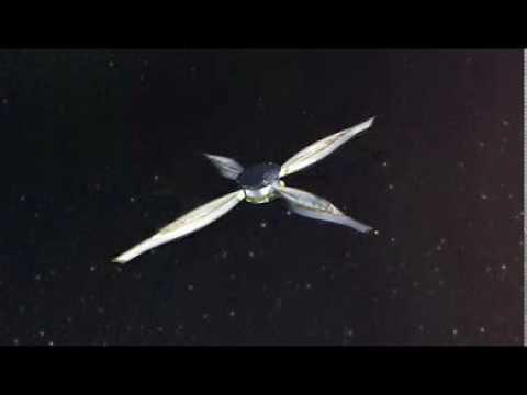 IKAROS sail spreading animation