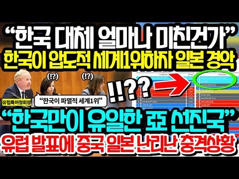 """""""한국 대체 얼마나 미친건가"""" 한국이 압도적! 세계1위하자 일본경악"""
