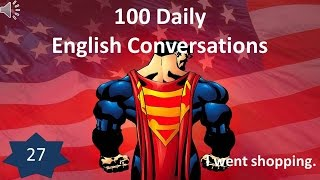 Daily English Conversation 27: I went shopping.