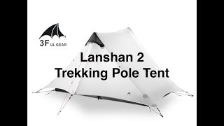 3F UL Gear LANSHAN 2 Trekking Pole Tent - Inexpensive Zpacks Duplex Clone Ultralight For Thru Hiking