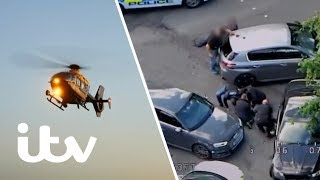 A Dangerous Motorway Car Chase Leaves a Police Officer Injured   999: Britain From Above   ITV