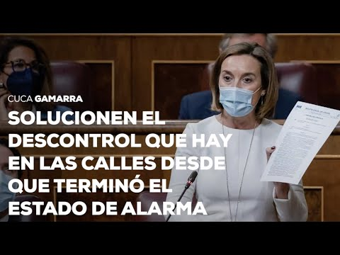 """Gamarra: """"Solucionen el descontrol que hay en las calles desde que terminó el estado de alarma"""""""