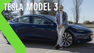 Un día con el TESLA MODEL 3: autopilot, aceleración brutal y 100% ELÉCTRICO