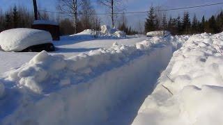Снежная зима 2017г.  на ул.Болотной.