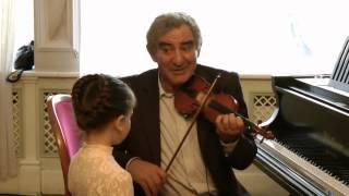 Михаил Казиник - скрипичный мастер-класс - Рига, 2010