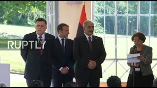 LIVE: Macron gives press conference following meeting with Libya's Sarraj and Haftar