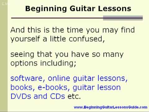 Beginning Guitar Lessons