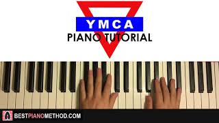 HOW TO PLAY - YMCA (Piano Tutorial Lesson)