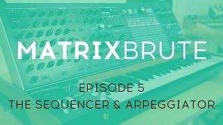 MatrixBrute Introduction Tutorial: Episode 5 – The Sequencer & Arpeggiator