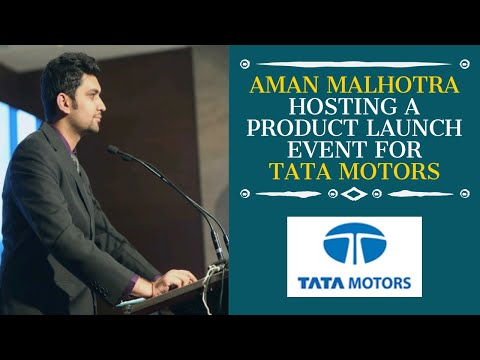 Aman Malhotra hosting for Tata Motors