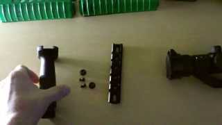 How to attach a foregrip and red dot to an M4 (Airsoft)