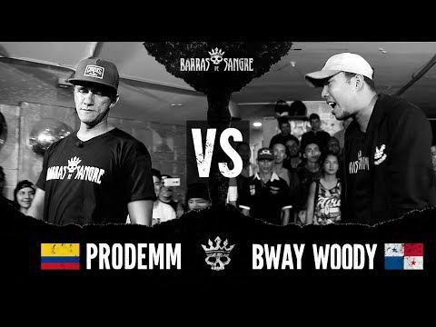Barras De Sangre: Prodemm 🇨🇴 vs  Bway Woody 🇵🇦 [ Batallas Escritas ]