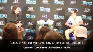 "Carlos Vives & Marc Anthony talk ""Unido2"" tour"