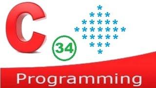 c programming video tutorial - diamond shape pattern printing