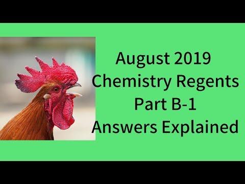 Chemistry Regents August 2019 Part B-1 Answers Explained ...