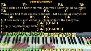 Peter Cottontail (Gene Autry) Piano Cover Lesson in Bb Major