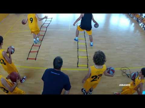 Sesión práctica de preparación física. Agilidad, velocidad de pies en baloncesto por Juan Trapero