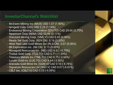 InvestorChannel's Gold Watchlist Update for Monday, September, 27, 2021, 16:00 EST