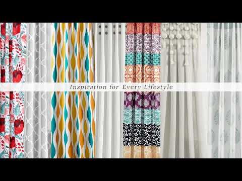Boho Patch Window Curtain Panel Set