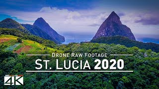 【4K】Drone RAW Footage | This is SAINT LUCIA 2020 | Castries | Soufriere and More UltraHD Stock Video
