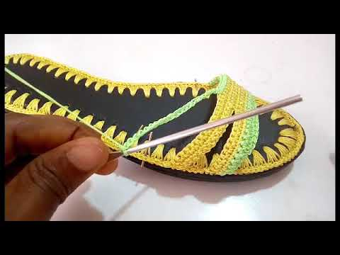"""Crochet sandals tutorial """"how to crochet female sandals"""" by Ilodinibe Chidimma"""