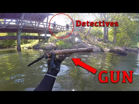 Working With Detective Unit to find GUN involved in Shooting!! (Underwater)