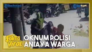 Viral Video Oknum Polisi Pukul Pemotor yang Tak Pakai Helm, Atasan Minta Maaf Cium Tangan Ibu Korban