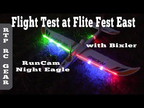flite-fest-east-2017-ffe17--testing-runcam-night-eagle-fpv-camera-on-night-flying-bixler