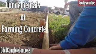 How to Form Concrete Basics Driveway Addition