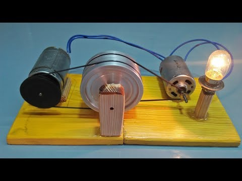 How To Make Free Energy Flywheel Generator 100% Real Motor With Flywheel Use Light Bulb