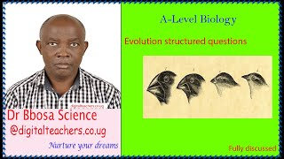 Evolution structured revision questions for A-level studens