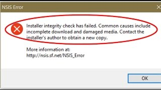 How to fix NSIS Error in windows 10/8.1/8/7