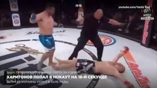 Харитонов попал в нокаут на 16 секунде