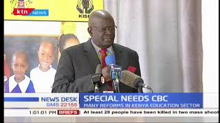 Education CS Magoha  opens workshop on CBC
