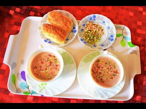 പഞ്ചനക്ഷത്ര ചായ /വിശിഷ്ടാതിഥികൾക്കൊരു വിശിഷ്ട ചായ/കാശ്മീർ പിങ്ക് ടീ /Kashmiri pink tea