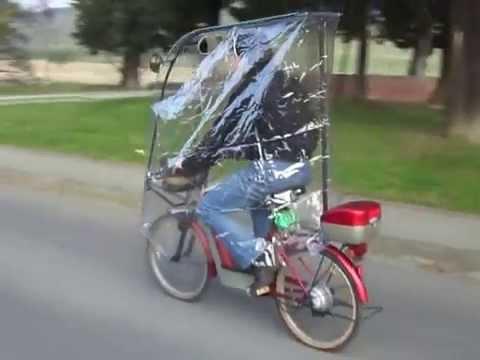 bicicletta elettrica antipioggia electric bicycle rain for winter