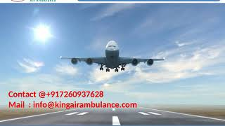 Get King Air Ambulance Services from Gorakhpur and Bokaro