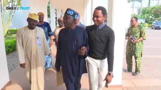 VIDEO: Tinubu, Akande go into closed-door meeting with Buhari