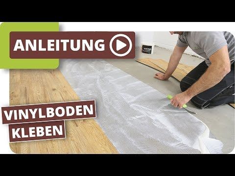 Vinylboden kleben - Verlegeanleitung für Vinyl-Sheets