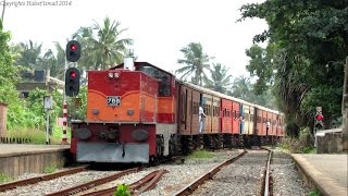 preview picture of video 'Class M6 788 hauling Train No.350 to Colombo from Kalutara South arriving at Mount Lavinia'