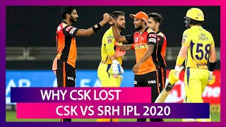 Chennai vs Hyderabad IPL 2020: 3 Reasons Why Chennai Lost to Hyderabad | Stat Highlights