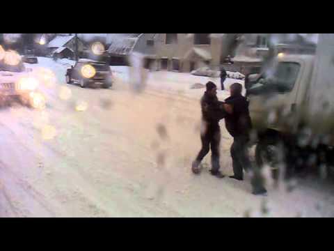 Неадекватный пешеход на ул. Шевченко