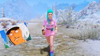 BULMA FROM DRAGON BALL IN SKYRIM? Bootiful Bijin Skin - Skyrim Mod Review Episode 10