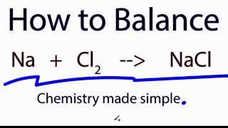 How to Balance:  Na  +   Cl2  =   NaCl