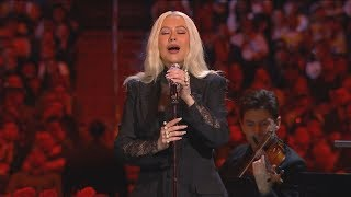 Singer Christina Aguilera sang 'Ave Maria' during the memorial for Kobe and Gia Bryant. Aguilera was part of large group of performers, athletes, and celebrities who paid tribute to Bryant and his daughter.  Follow us on Twitter: @WLTX Follow us on Facebook: @WLTXNews19 Check out our website: WLTX.com