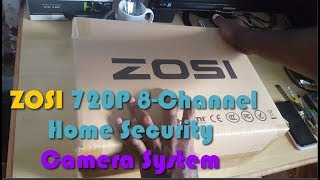 ZOSI 720P 8 Channel Home Security Camera System Unboxing