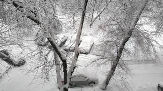 Завалило снегом Москву. Все в снегу. Снежная зима 2018 года.