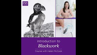 Royal School Of Needlework Online Learning - Introduction To Blackwork