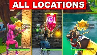 ALL SECRET BATTLE STARS and SECRET BANNER LOCATIONS (FREE TIERS) Fortnite Battle Royale Season 6